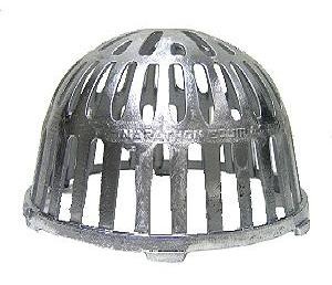 8 in. Cast Alum Replacement Drain Dome / Strainer - 8 inch (7.5 actual) Cast Aluminum Drain Dome / Strainer. 8 inch OD x 5 inches high. Fits Marathon Fast-Flow Drains without a clamping ring. Price/Each. (shipping leadtime 2 business days)