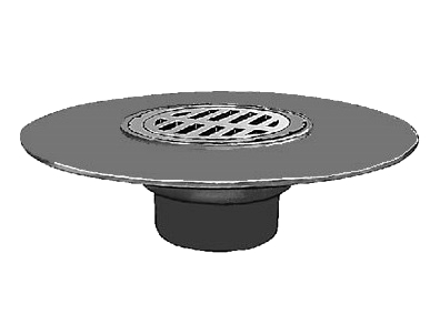 Smith 8-1/2 in. Cast Iron Deck Drain, SPECIFY OUTLET - Smith DX2565 8-1/2 inch OD Grate Medium Capacity Deck / Floor Drain Kit. 17- inch OD Cast Iron Wide Flange Bod with Duco Finish, Sediment Bucket. Price/Each. (see ordering notes in detail view)