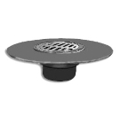 Smith 8-1/2 in. Cast Iron Deck Drain, SPECIFY OUTLET