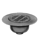 Smith 12-1/4 in. Cast Iron Deck Drain, SPECIFY OUTLET
