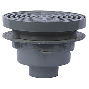 Watts FD-340-Y, 12-1/2 inch Round Floor Drain, SPECIFY OUTLET - Watts FD-340-Y Cast Iron Area Drain with Anchor Flange, Weepholes, 12-1/2 (318mm) Diameter Fixed Top, Ductile Iron Grate, No-Hub (standard) Outlet, XHD Load Rating. Price/Each. (special order; select OPTIONS before adding to cart)