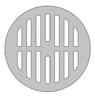 Zurn 56965 1 8 X 1 3 4 Inch Flat Round Drain Grate Cast Iron