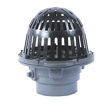 Small Area Roof Drain Cast Iron 8 In Plastic Dome