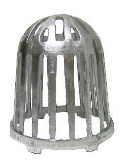 5 in. Cast Al. Replacement Drain Dome / Strainer - 5 in. CAST ALUMINUM REPLACEMENT DRAIN DOME / STRAINER. 5-1/4 in. OD x 5-3/4 in., FITS MOST POPULAR 5 in. ROOF DRAINS. PRICE/EACH.