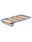 1 in. X 6 in. X 10 ft. No Profile F8 Drip Edge, 26 Ga Galv., BROWN
