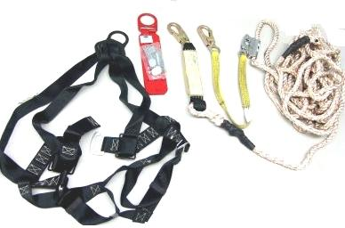 Roofers Fall Arrest / Fall Protection. Kit, 2XL - ROOFERS FALL ARREST / PROTECTION KIT IN BUCKET. BUCKET CONTAINS 2XL (DOUBLE-EXTRA-LARGE) FULL BODY HARNESS, RE-USEABLEUSE ROOF-PEAK ANCHOR, 50