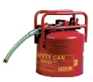 Type-2 Dot Safety Can, 5G Steel, Red, w/ Flex Metal Spout
