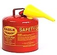 5-Gallon Type-1 Safety Can,  Steel, Red With Funnel (Gas Can)