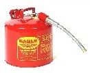 5-Gallon Type-2 Safety Can, Steel, Red, w/ Flex Metal Spout