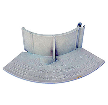 E-Curb 2 Inch Corner Piece, Gray Color, F1355 (1) - Chem Link E-Curb 2-Inch Radius Corner Curb Piece, Gray Color, (F1355). Price/Piece.