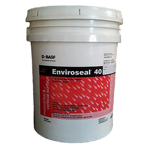 Enviroseal 40 Concrete/Masonry Silane Penetrating Sealer (5G) - Enviroseal® 40, clear, water-based, 40% silane  penetrating sealer / water repellant. For concrete and masonry. 5-Gallon Pail. Price/Pail. (36 pails/pallet).