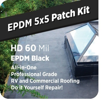 EPDM 5x5 Roof Patch Kit, 60 mil Black
