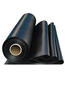 "BLACK EPDM Rubber Membrane, Flashing Grade, 60 mil, 24""x50 ft."