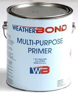 EPDM / TPO Multi-Purpose Primer (1G) - WEATHERBOND MULTI-PURPOSE PRIMER FOR EPDM / TPO ROOFING MEMBRANES. 1G CAN. PRICE/CAN. Flammable. Ground Shipment Only. (6 per case. Order full cases for case discount; UPS ground or truck shipping only)