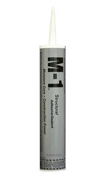 M-1 Sealant / Adhesive, BLACK, 10.1 Oz Tube (1) - M-1 HIGH PERFORMANCE STRUCTURAL SEALANT & ADHESIVE, BLACK COLOR, 10.1 OZ. TUBE. 24/CASE. PRICE/TUBE.
