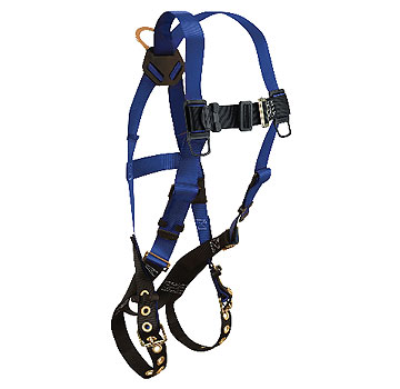 Full Body Harnesses, 1 D-Ring, 5 Point, Uni-Fit - Falltech #7016, Contractor Series Universal-Fit Size (S-L) Full Body Harness, 5 point Adjustment, D-ring on center back. Price/Each.