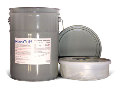 NovaTuff FC-200 Protective Epoxy Floor Coating, White Color, (5G) - NovaTuff FC-200 (formerly AES-200) Protective Epoxy Floor Coating for Concrete, High Abrasion, Jet Fuel / Chemical Resistant. 2-parts. White Color. 5-Gallon Kit. Price/Kit. (Flammable, Ground or truck shipment only; lead time 2-4 business days)
