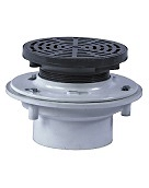 FD-1160 Chem. Resistant Floor Drain, 6-1/2 in. OD, SPECIFY OUTLET