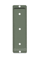 Deck Rail / Post End Brackets, 2x6, KHAKI Color (100)
