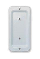 Deck 10965 Rail End-Bracket, 2x4, WHITE Color