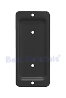 Deck Rail End Brackets, 2x4, BLACK (100)
