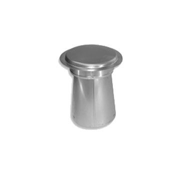 Hot Exhaust Vent Top / Cap, 6 inch, Aluminum (1) - Hot Exhaust Vent Top / Cap 12 inches Tall, 6 inch Pipe, All Aluminum. Fits STVB06 Exhaust Flashing. Price/Each.