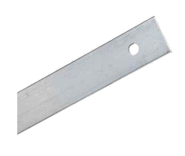 Flat Term Bar, 0.125 Aluminum (500 Ft) - FLAT ROOFING TERMINATION BAR. SLOTTED HOLES 0.26 x 0.38 6-INCH ON CENTER. ALUMINUM .125 THICK X 1 INCH WIDE X 10 FOOT PIECE. 50 PIECES/TUBE. PRICE/TUBE.