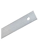 Flat Term Bar, 0.090 Aluminum, 500 Ft, SPECIFY HOLE