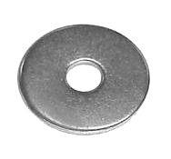 10 X 1 Flat Galvanized Steel Fender Washer (1000) - #10 (3/16 inch) ID x 1-inch OD, Flat Galvanized Steel Washer / Fender Washer. Price/1000.