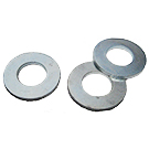 3/8 Inch ID Flat Galvanized Steel Washer, SAE Grade (100)