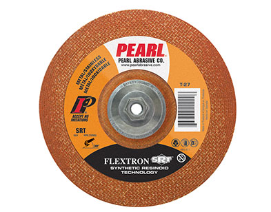 Flexible Grinding Wheel for Metal, 7 x 1/8 x 7/8 inch (Box/10) - Pearl Abrasive T-27 Style Contaminant Free Flexible Grinding Wheel for Metal and Stainless Steel, #FLEX7036, 7 inch OD x 1/8 inch x 7/8 inch center Hole, SRT 36-Grit. 10/Box. Price/Box.