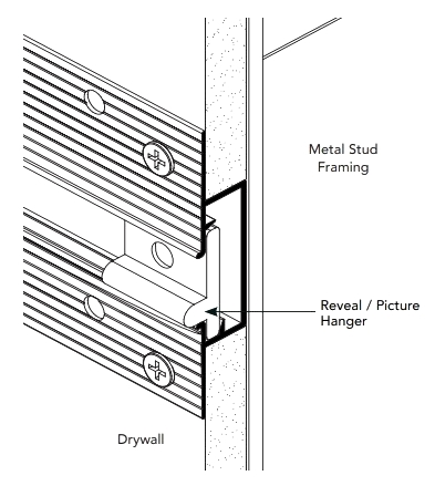 Fry Reglet Drmh I 50 Reveal Picture Hanger Molding End Cap Specify