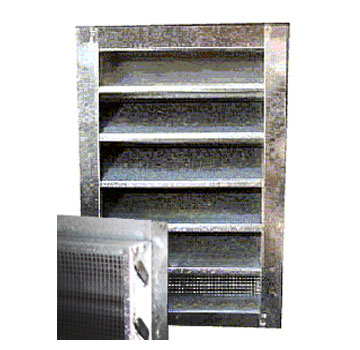 14 X 30 Inch Gable Louver Vent, Flush Mount - 14 WIDE X 30 INCHES HIGH GABLE (END) LOUVER VENT, FLUSH MOUNT. 26 GA. GALV. PRICE/EACH. (special order size; leadtime 1-3 business days)