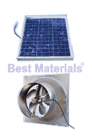 Solar Powered Attic Fan, Gable Mount, 20W, 1275 Cfm