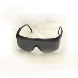 Smoke Black Tinted Safety Glasses w/ Black Frame (12) - STING-RAYS OVER GLASSES, ADJUSTABLE SAFETY GLASSES, MEETS ANSI Z87.1. BLACK FRAME WITH SMOKE BLACK LENS. 12/PACK. PRICE/PACK.