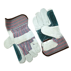 Double Palm Leather Glove - Double-Palm-Leather, Leather Glove with 2-1/2 inch Rubberized Safety Cuff. Price/Paid. (72 pair per case; order full cases for added discounts)