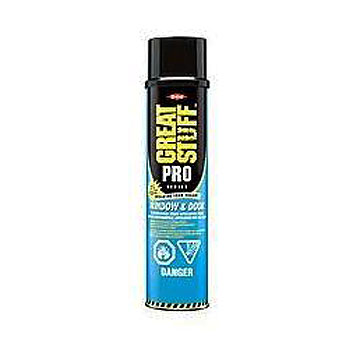 Dow Great Stuff Pro Window / Door Foam, STRAW, 20 Oz., 12 cans - Dow Great Stuff Pro, Window & Door Foam Sealant with STRAW Dispenser, ASTM E-84 Fire Rated. 20 oz. Cans. 12 Cans/Case. Price/Case. (Dow 341553 / 199028 / 298140, UPS Ground Shipment Only)