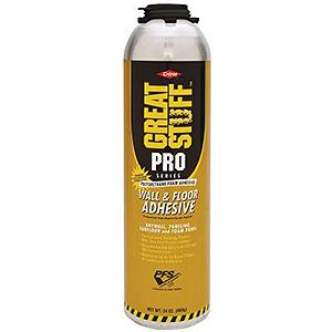 Dow Great Stuff Pro Wall And Floor Adhesive Foam 26 5 Oz