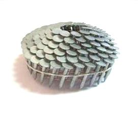7/8 x .120 Hot Dipped Coil Roofing Nails, Standard Shank (7200) - 7/8 length x .120 wire, Hot Dipped Galvanized, STANDARD shank, Coil Roofing Nails, Wire Collated,  120/Coil, 60 coils/box. 7200 Nails/Box. Price/Box. (aka #GCR1DHD)