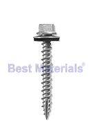 #10 X 1-1/2 HWH Woodgrip Screw, Hi-Lo w/ NEO, Galv. (250)