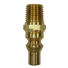 Propane Hose Quick-Connect Fitting, 1/4 In. Male, High Pressure - PROPANE HOSE MALE QUICK-CONNECT FITTING, HIGH PRESSURE TYPE (straight-through; fits high pressure quick-disconnect female propane fittings). ALL BRASS. 1/4 INCH MPT. PRICE/EACH.