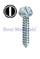 #10 x 1 Inch HWH Sheet Metal Screw (100)