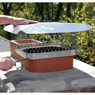 Stainless Steel Chimney Cap, 8x17 Rect. / 9x18 Oval, Single Flue
