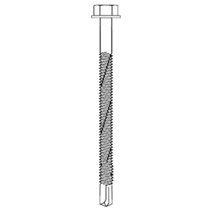 #14-20 x 4 inch HWH #5 TEK (250) - #14-20 x 4 inch HWH TEK, #5 Self Drilling Point, 3/8 inch HWH, IMPAX. Sentri/Zinc finish, no washer. 250/Bag. Price/Bag. (SFS #1356395)