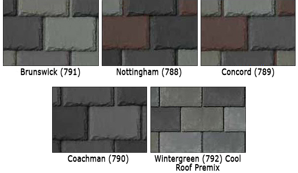 synthetic slate roof tile natural color blend options