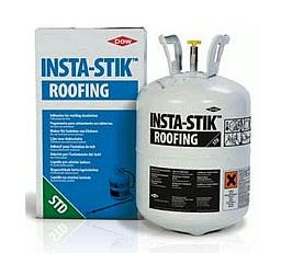 Dow Complete Insta-Stik Kit - DOW INSTA-STIK Quik, complete kit. Roof insulation adhesive. Covers ~ 9 sq per bottle. Kit includes tank of adhesive, 4