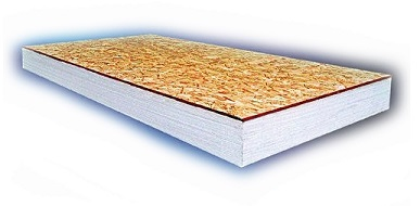 InsulLam Foam Insulation Board, 3-1/2 in. with 7/16 in. OSB - InsulLam EPS Composite Insulation Board, 4x8 feet with 3-1/2 inch EPS Foam laminated to a 7/16 inch OSB Board. R= ~12.55. Price/Sheet. (Lead-time: 3-4 days)