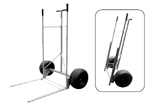 Roofmaster Insulation Carrier with Pneumatic Tires - Roofmaster 506200 Insulation Carrier / Cart with two 18 x 8.50 Pneumatic Tires. Price/Each. (oversize - truck delivery; use FreightQuote shipping)
