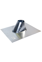 2 in. Galvanized IP Jack, Roof Pipe Flashing
