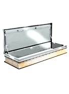 30 x 96 Roof Access Hatch,  Diamond Series, Aluminum, Mill Finish
